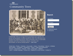 FamilySearch Community Trees
